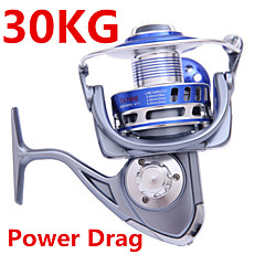 30KG Power Drag 4.7:1 8+1 Ball Bearings Spinning Reels Sea Fishing Boat Fishing Jigging Fishing Reel 8000 Size