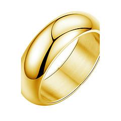 Anéis Homens Sem Pedra Titânio Titânio 6 / 7 / 8 / 9 Amarelo Dourado