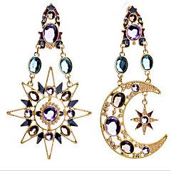 cheap -Women's Synthetic Diamond Drop Earrings - Cubic Zirconia, Gold Plated, Imitation Diamond Moon Luxury, European Screen Color For
