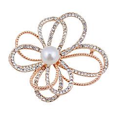 韓国のファッションのすべての一致合金ハイグレードの天然淡水真珠のブローチ