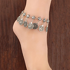 cheap Body Jewelry-Fashionable Vintage Metal Coin Tassel Anklets Classical Feminine Style