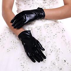 Csukló Ujjbegy Kesztyű Műbőr Menyasszonyi kesztyűk Minden évszak Pliszé