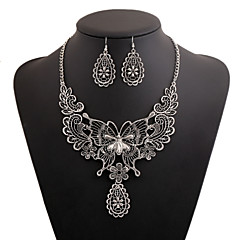 Women's Statement Necklaces Earrings Set Floral Metal Alloy Alloy Geometric For Special Occasion Event/Party Street Club Wedding Gifts