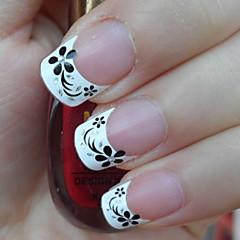 billige Negleklistremerker-1 Neglekunst klistremerke Guide Franske Spisser 3D Negle Klistremerker Blomst Smuk Sminke Kosmetikk Neglekunst Design