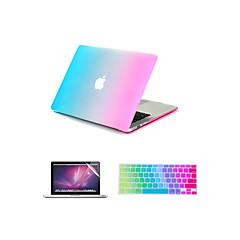 """3 i en regnbue fargerike gummi vanskelig sak deksel + tastatur deksel + skjermbeskytter for MacBook Air 11 """"/ 13"""""""