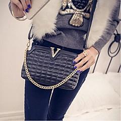Χαμηλού Κόστους Bags on sale-Γυναικείο PU Καθημερινή / Για εξωτερικούς χώρους Τσάντα ώμου Λευκό / Χρυσό / Ασημί / Μαύρο