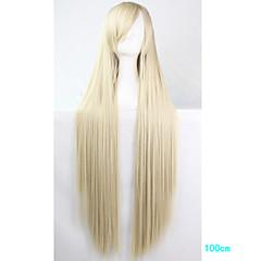 billige Kostymeparykk-Syntetiske parykker / Kostymeparykker Rett Med lugg Syntetisk hår Side del Blond Parykk Dame Lang Cosplay-parykk / Festparykk / Celebrity
