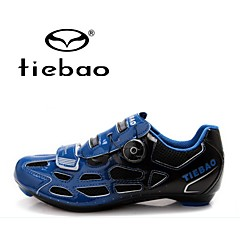 Tiebao Road Bike Shoes Cycling Shoes Men's Anti-Slip Breathable Outdoor Mountain Bike PVC Leather Breathable Mesh Latex PVC Cycling Hiking