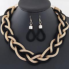 Κοσμήματα Κολιέ / Cercei Γάμου / Πάρτι / Καθημερινά / Causal Κράμα 1set ΓυναικείαΧρυσαφί / Μαύρο / Ασημί / Κόκκινο / Μπλε / Καφέ /