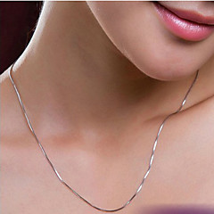 Women's Chain Necklaces Silver Plated Costume Jewelry Jewelry For Wedding Party Daily Casual