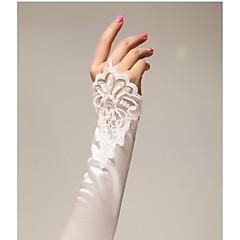 Χαμηλού Κόστους Γάντια για πάρτι-Σατέν Μέχρι τον αγκώνα Γάντι Νυφικά Γάντια