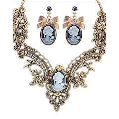 tanie Zestawy biżuterii-Biżuteria Ustaw - Cyrkonia Vintage, Impreza, Praca Zawierać Żółtobrązowy Na Impreza Specjalne okazje Rocznica / Kolczyki / Naszyjniki