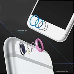 billige Telefoner og nettbrett-høy kvalitet metall hjem-knappen dekselet ring protector sirkel + aluminiumslegering kameradekselet vakt for iphone 6 / 6s pluss