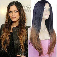 cheap Wigs & Hair Pieces-extensions best quality blend color silky straight wave long syntheic straight wig