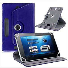 """タブレット360度回転レザーケースカバー用のレザーケースは、ユニバーサルアンドロイドタブレット7 """"インチ3-ベルナのためのスタンド"""
