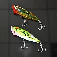 """2pcs יח ' פתיונות דיג פופר מבחר צבעים g/אונקיה,83mm mm/3-1/4"""" אינץ ',פלסטיק קשיח דיג בפתיון"""