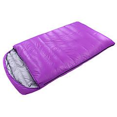 Saco de dormir Largura Dupla -10℃ ° C Penas de Pato Manter Quente Tamanho Maior 210X120 Interior CAMEL Casal (L200 cm x C200 cm)