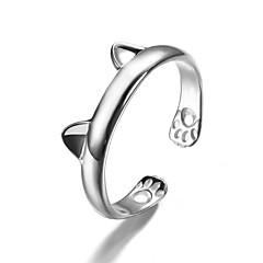 Dames manchet Ring Modieus leuke Style Kostuum juwelen Sterling zilver Dierenvorm Sieraden Voor Feest Dagelijks Causaal