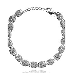 Damen Ketten- & Glieder-Armbänder Kupfer versilbert Silber Schmuck Für Party Alltag Normal 1 Stück