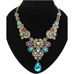 Γυναικεία Κολιέ Δήλωση Κρεμαστό Κοσμήματα Συνθετικοί πολύτιμοι λίθοι Κράμα κοσμήματα πολυτελείας Ευρωπαϊκό Κομψή Γιορτές/Διακοπές