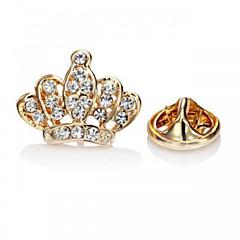 Dámské Brože Módní luxusní šperky Evropský Štras Umělé diamanty Slitina Crown Shape Stříbrná Zlatá Šperky ProPárty Zvláštní příležitosti