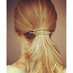 halpa -Yksinkertainen Vapaa-aika Hiusklipsu Metalliseos Hopea Kultainen