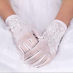 お買い得  パーティー用グローブ-シルク弾性サテンの手首の長さの手袋の花嫁の手袋エレガントなスタイル
