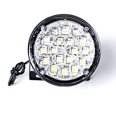 carking ™ universal 18 a condus stilul rotund DRL masina pe timp de zi de funcționare de lumină / de ceață lumina de lumină albă (2pcs)
