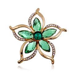 Dame Nåler Akryl Strass imitasjon Diamond Mote Grønn Smykker Bryllup Fest Spesiell Leilighet Bursdag Daglig