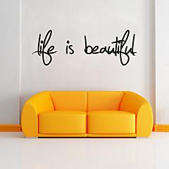 Parole e citazioni Adesivi murali Adesivi aereo da parete Adesivi decorativi da parete, PVC Decorazioni per la casa Sticker murale Parete