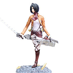 Anime Action Figures geinspireerd door Attack on Titan Mikasa Ackermann 24 CM Modelspeelgoed Speelgoedpop