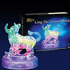 3D Puzzles Jigsaw Puzzle Crystal Puzzles Toys Bull 3D 43 Pieces
