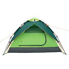 Makino 3-4 personer Telt Tredobbelt camping Tent Ett Rom Velventilert Vanntett Vindtett Regn-sikker Støvtett Anti-Insekt Pusteevne til