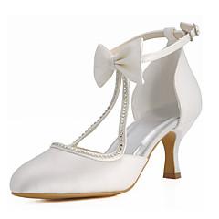 Dame-Pantofi de nunta-Tocuri / Vârf Rotund-Pantofi cu Toc-Nuntă / Rochie / Party & Seară-Fildeș