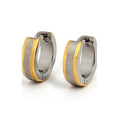 Ring oorbellen Modieus Roestvast staal Titanium Staal Verguld Goud/Zilver Sieraden Voor Dagelijks Causaal Sport 1 paar