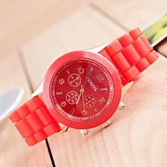 cheap Men's Watches-Geneva Men's Quartz Wrist Watch / Casual Watch Silicone Band Casual Black White Blue Red Orange Brown Green Pink Purple Yellow Beige Rose