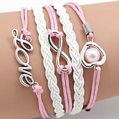 Heren Dames Wikkelarmbanden Vriendschap Initial Jewelry Kostuum juwelen Leder Liefde Sieraden Voor Dagelijks Causaal Sport Kerstcadeaus
