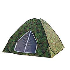 billige Telt og ly-3-4 personer Telt Tredobbelt camping Tent Automatisk Telt Hold Varm Varmeisolering Fukt-sikker Velventilert Vanntett Vindtett Ultraviolet