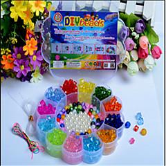manuelle kreative Perlen die neuesten Bildungs-Spielzeug der Kinder DIY Acryl Pflaume Formkasten