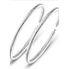 voordelige -Dames Bangles Kostuum juwelen Sterling zilver Sieraden Voor Bruiloft Feest Dagelijks Causaal