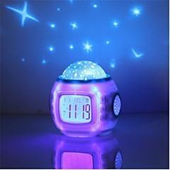olcso Dekorativna rasvjeta-HRY 1db Zenei ébresztőóra Sky Projector NightLight Színes AAA akkumulátorok tápláltak Gyermekeknek / Tompítható / Színváltós Akkumulátor / 5 V