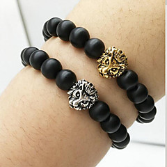 Lion Head Beads Agate Bracelet Charm Bracelets Daily / Casual 1pc Gifts