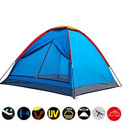 3-4 personer Telt Enkelt camping Tent Ett Rom Fukt-sikker Vanntett Fort Tørring Ultraviolet Motstandsdyktig Regn-sikker Støvtett