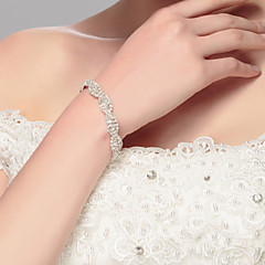 cheap Bracelets-Women's - Chain Silver Bracelet For Wedding Party Special Occasion