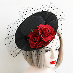 cheap Party Headpieces-Lace Fabric Hats 1 Wedding Special Occasion Headpiece