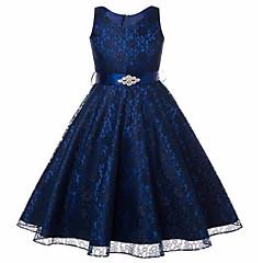tanie Odzież dla dziewczynek-Dla dziewczynek Elegancka odzież Wyjściowe Bez rękawów Sukienka