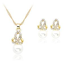 Χαμηλού Κόστους Σετ Κοσμημάτων-Γυναικεία Rose Gold Μαργαριτάρι Απομίμηση Μαργαριταριού Στρας Με Επίστρωση Ροζ Χρυσού Κοσμήματα Σετ Cercei Κολιέ - Λευκό Σετ Κοσμημάτων