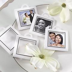 12pcs - 1.5inch quadrado diy obrigado tag / foto tag festa de casamento presentes materiais de pacote de acessórios