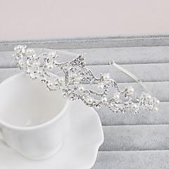 פנינה ריינסטון tiaras headpiece אלגנטי בסגנון נשי קלאסי