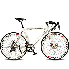 billige Sykler-Landeveissykkel Sykling 14 Trin 26 tommer (ca. 66cm) / 700CC SHIMANO TX30 Dobbel skivebremse Vanlig Helsveiset Vanlig Aluminiumslegering / #